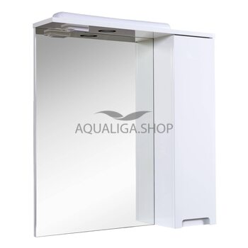 Зеркало Аквародос Квадро 70 см с пеналом справа и подсветкой АР0001762