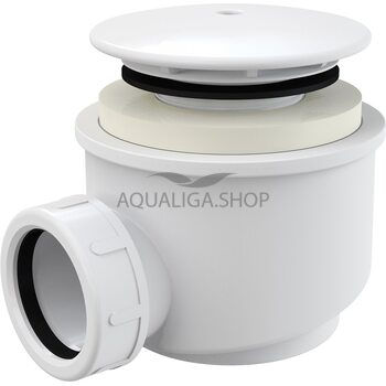 Сифон для душевого поддона, белый d60 Alcaplast A47B-60