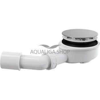 Сифон для душевого поддона заниженный, хромированный Alcaplast A491CR
