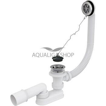Сифон для ванны хромированный AlcaPlast A501