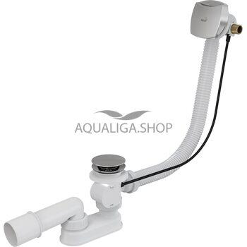 Сифон для ванны с напуском воды через перелив пластик/металл AlcaPlast A564CRM1