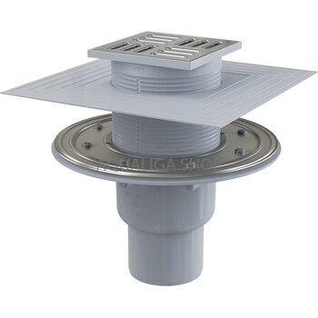 Сливной трап 105x105/50мм с прямой подводкой, пластик AlcaPlast APV2324