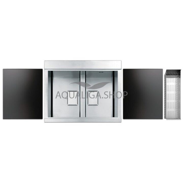 Кухонная мойка 860х500 Apell Sinphonia PD862IKITB Satin