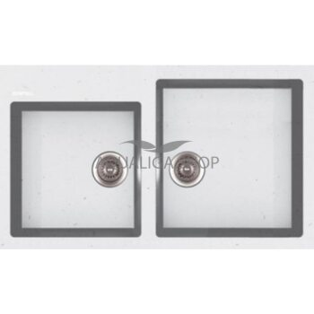 Кухонная мойка 860х500 Apell Pietra Plus PTPL862GW Total white