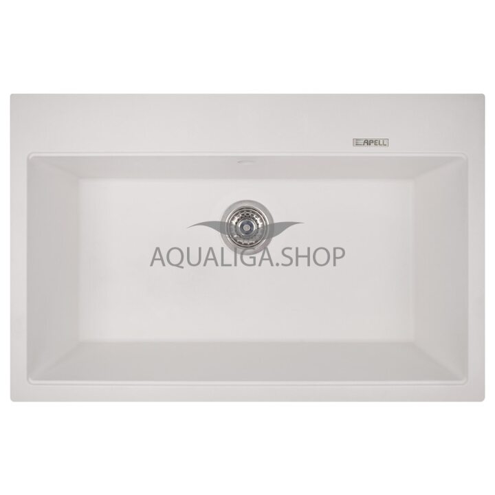Кухонная мойка 780х510 Apell Pietra Plus PTPL780GW Total white