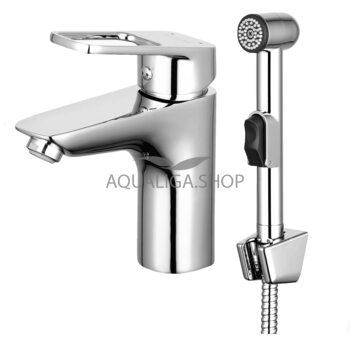 Смеситель для умывальника с гигиеническим душем AquaRodos Umbra ОР0003293