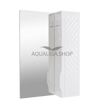 Зеркало Аквародос Родорс 55 см без подсветки, с пеналом справа АР0000419