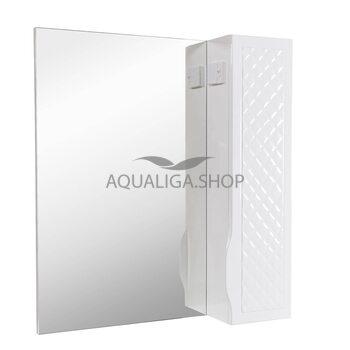 Зеркало Аквародос Родорс 70 см без подсветки, с пеналом справа АР0000421