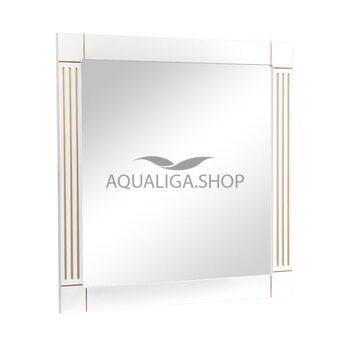 Зеркало Аквародос Роял белое патина золото 100 см АР0002651
