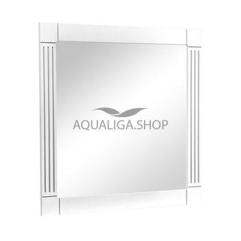 Зеркало Аквародос Роял белое патина хром 100 см АР0002744
