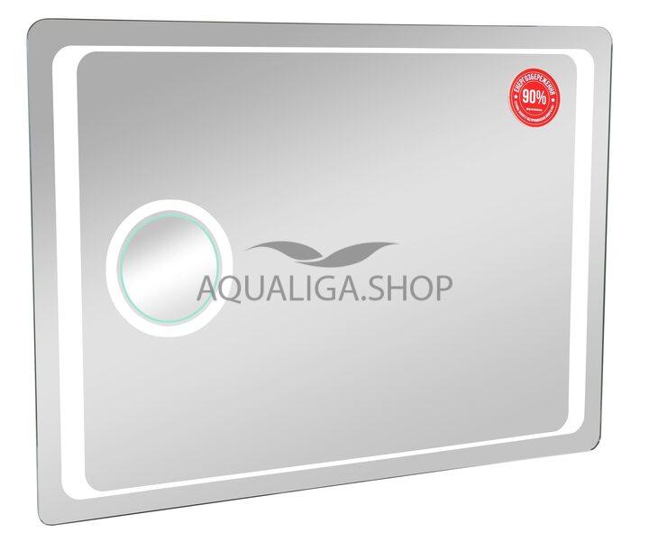 Зеркало Аквародос Омега Люкс 100 см с LED подсветка, линза с подсветкой АР0002500