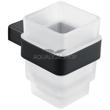 Стакан для зубных щеток черный ASIGNATURA Unique 85601802