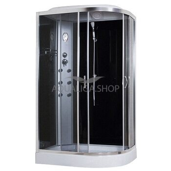 Гидробокс Sansa 120 Х 80 см стекло серое левая 8890D/15-L