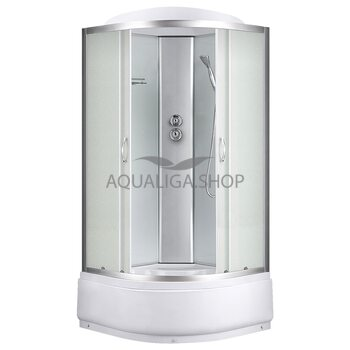 Гидробокс Sansa 90 Х 90 см стекло фабрик, поддон 45см 8890D