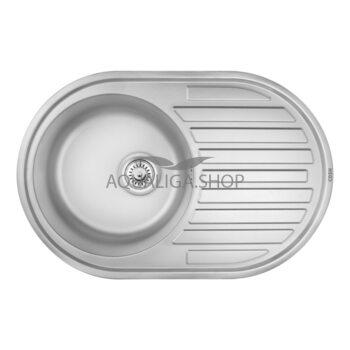 Кухонная мойка 77х50 Cosh 7108 Satin COSH7108S08