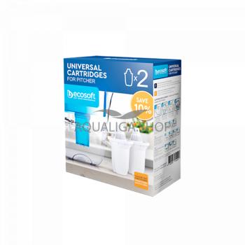 Комплект универсальных картриджей ECOSOFT для фильтров-кувшинов 2шт CRVKAB2ECO
