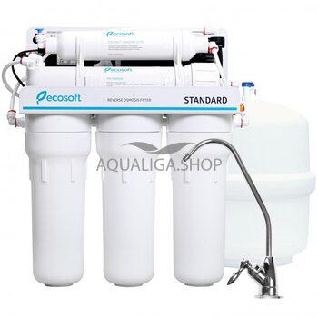 Фильтр обратного осмоса Ecosoft Standard 5-50P с помпой MO550PECOSTD