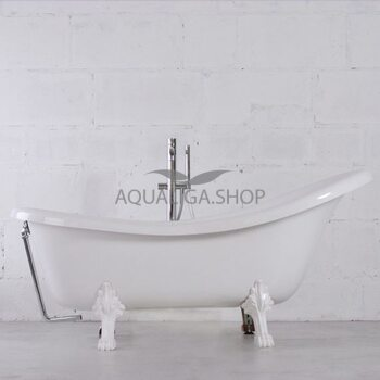 Ванна отдельностоящая Fancy Marble Lady Hamilton на белых ножках 80174501