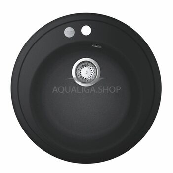 Мойка для кухни круглая Ø 510 Grohe K200 50-C 51 1.0 черный гранит 31656AP0