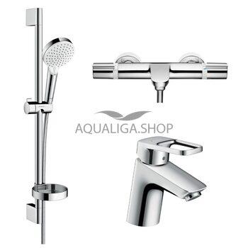 Набор смесителей для ванны Hansgrohe Logis Loop 1132019