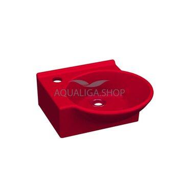 Умывальник 36 см Idevit Myra Mini  красный, левый 0201-0367-08