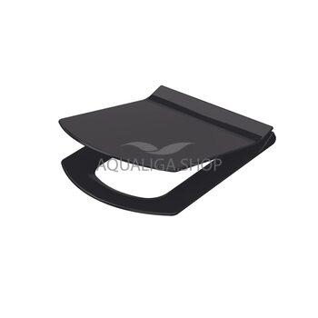 Сиденье для унитаза Idevit Vega Soft Close Slim черный 53-02-06-004