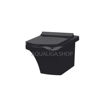 Унитаз подвесной Idevit Vega Ultra Slim Soft Close черный SETK2804-0606-071-1-6000