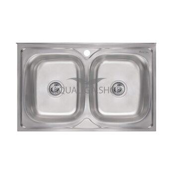 Кухонная мойка Imperial 5080 Decor двойная IMP5080DECD