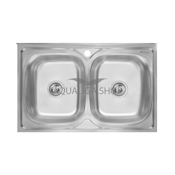 Кухонная мойка Imperial 6080 Decor двойная IMP6080DEC
