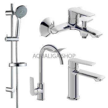 Набор смесителей для ванны и кухни (4 в 1) Imprese kit30093