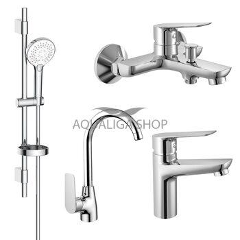 Набор смесителей для ванны и кухни (4 в 1) Imprese kit30094