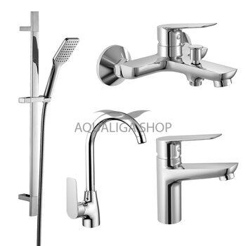 Набор смесителей для ванны и кухни (4 в 1) Imprese kit30095