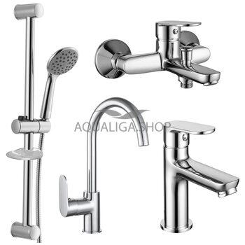 Набор смесителей для ванны и кухни Imprese LASKA хром 51004055