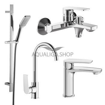 Набор смесителей для ванны и кухни (4 в 1) Imprese Kampa 51028555