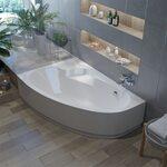 Асимметричные акриловые ванны по лучшим ценам