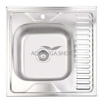 Кухонная мойка Lidz 6060-L Satin 0,6 мм LIDZ6060SAT06