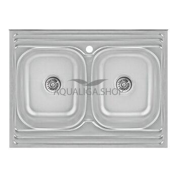 Кухонная мойка Lidz 6080 Satin 0,8 мм LIDZ6080DBSAT8