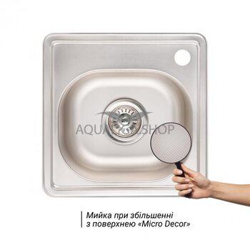 Кухонная мойка Lidz 3838 Micro Decor 0.6мм LIDZ3838MDEC06