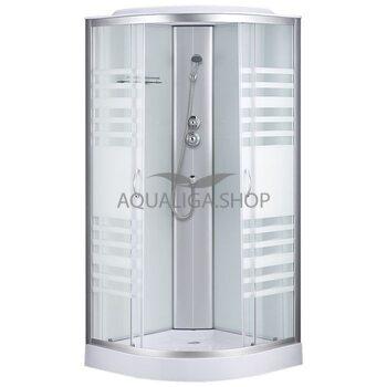 Гидробокс Sansa 90 Х 90 см стекло прозрачное Lines 7790A