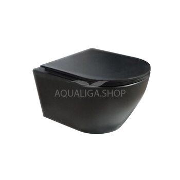 Унитаз подвесной Newarc Modern Rimless Soft-close черный матовый 3823B-M