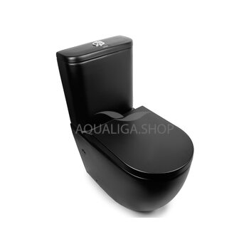 Унитаз-компакт Newarc Modern Rimless черный матовый 3822B-M
