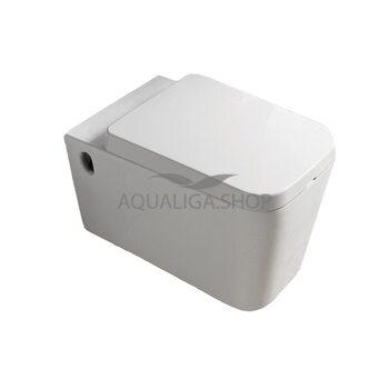 Унитаз подвесной Newarc Aqua Soft-close белый 9423W