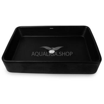 Умывальник Newarc Aqua 59,5х34,5 черный матовый 9461B-M