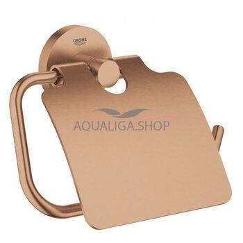 Держатель туалетной бумаги Grohe Essentials с крышкой матовый теплый закат 40367DL1