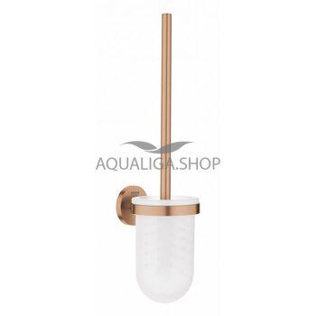 Туалетный ёршик стеклянный Grohe Essentials матовый теплый закат 40374DL1