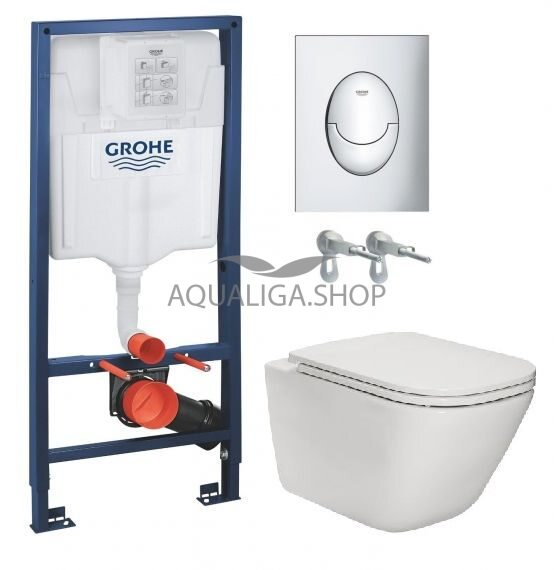 Инсталляция Grohe Rapid SL 39503000+ Унитаз Roca Gap Clean Rim Soft Close Slim A34H470000