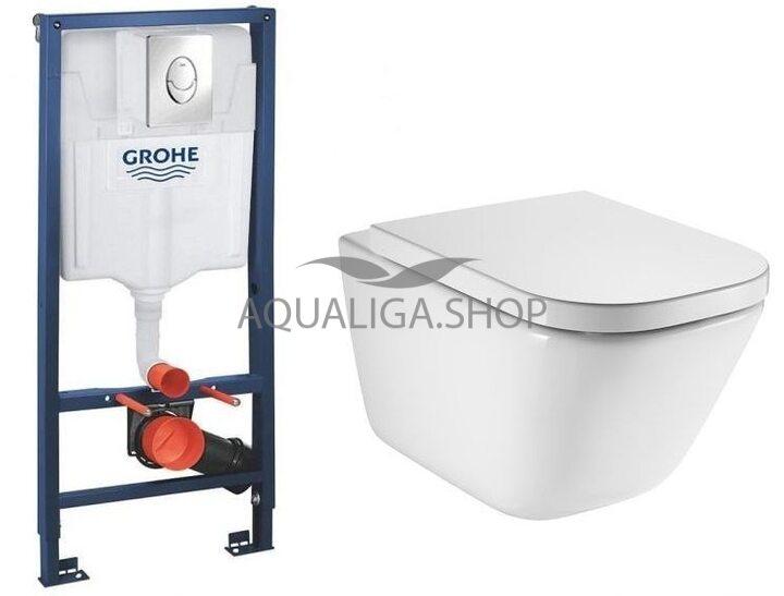 Инсталляция Grohe Rapid SL 38721001 + унитаз Roca Gap Clean Rim A34H47C000 Soft Close