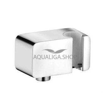 Соединение для шланга Kludi A-Qa с держателем для ручного душа 6556005-00
