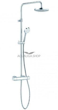 Душевая система с термостатом Kludi Logo Dual Shower System 1S 6809505-00