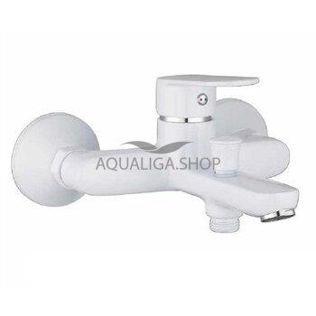 Cмеситель для ванны Imprese Laska белый 10040W